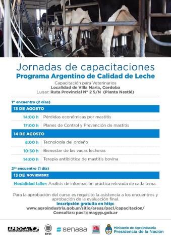 Capacitación Programa Argentino de Calidad de Leche – Villa María, Córdoba