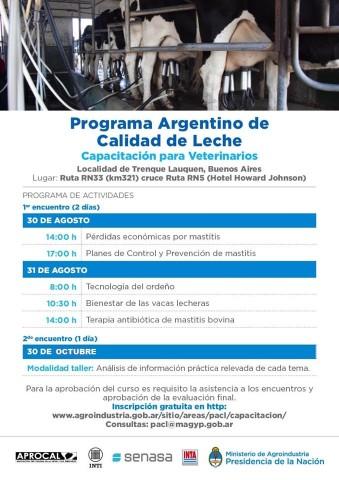 Capacitación Programa Argentino de Calidad de Leche – Trenque Lauquen , Buenos Aires