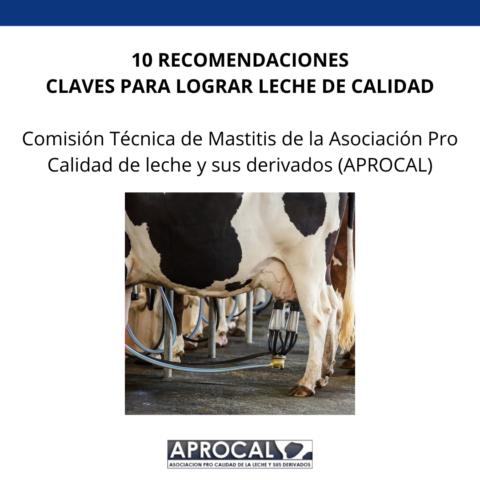 10 recomendaciones claves para lograr leche de calidad