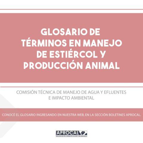 Glosario de Términos de Manejo del Estiércol y Producción Animal