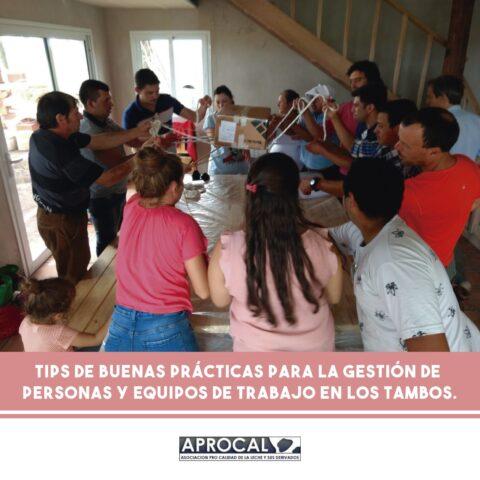 Buenas prácticas para le gestión de personas y equipos de trabajo en el tambo