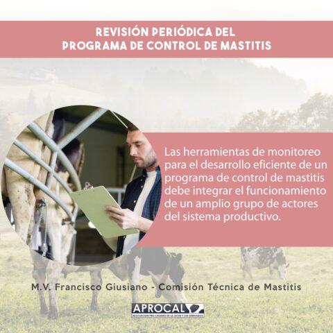 Revisión periódica del programa de control de mastitis
