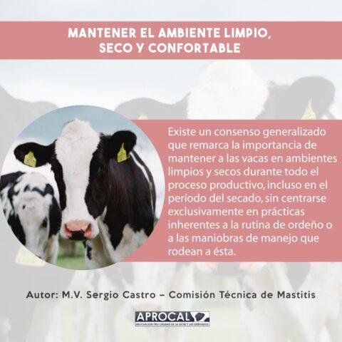 MANTENER EL AMBIENTE LIMPIO SECO Y CONFORTABLE